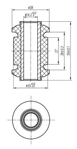 Сайлентблок AKITAKA 0101-073 (переднего рычага передний) TOYOTA
