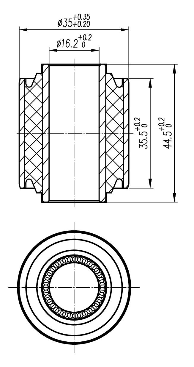 Сайлентблок AKITAKA 0101-091 (задней поперечной тяги) TOYOTA