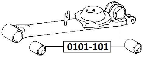 Сайлентблок AKITAKA 0101-101 (заднего продольного рычага) TOYOTA