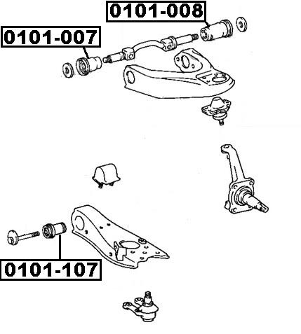 Сайлентблок AKITAKA 0101-107 (переднего нижнего рычага) TOYOTA