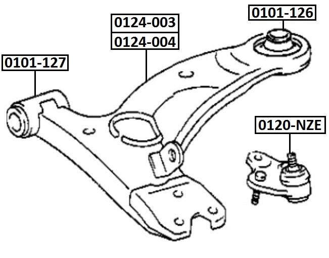 Сайлентблок AKITAKA 0101-127 (переднего рычага передний)