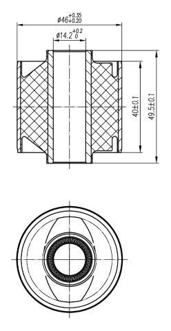 Сайлентблок AKITAKA 0101-133 (задней тяги) TOYOTA
