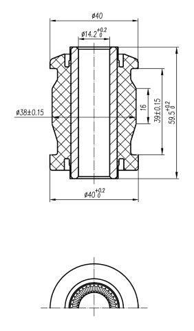 Сайлентблок AKITAKA 0101-135 (переднего рычага передний) TOYOTA