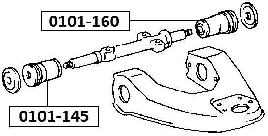 Сайлентблок AKITAKA 0101-145 (переднего верхнего рычага передний) TOYOTA