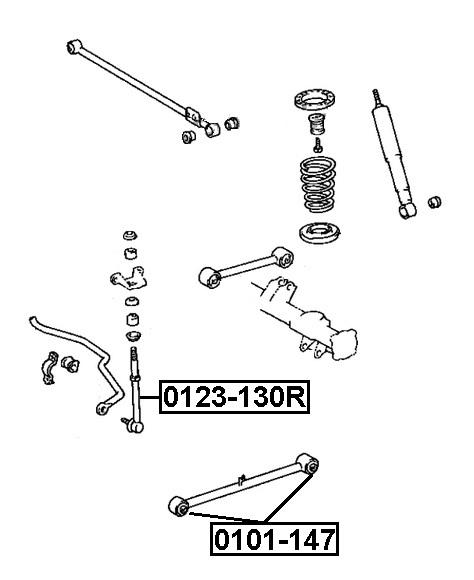 Сайлентблок AKITAKA 0101-147 (заднего нижнего продольного рычага) TOYOTA