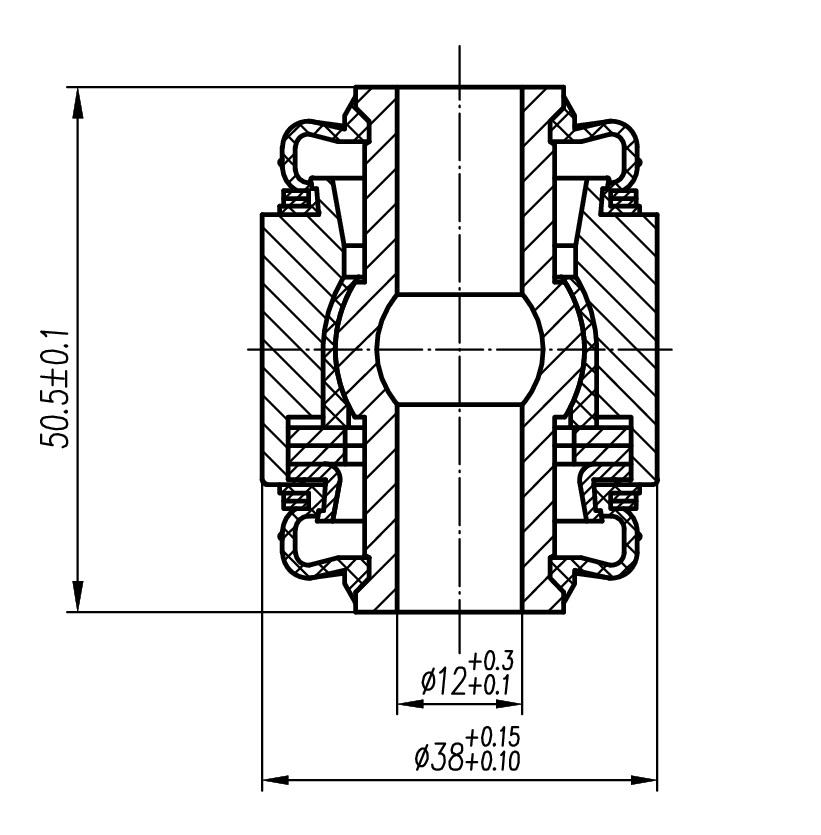 Сайлентблок AKITAKA 0101-168 (задней цапфы плавающий (14.4x38x48.5)) TOYOTA