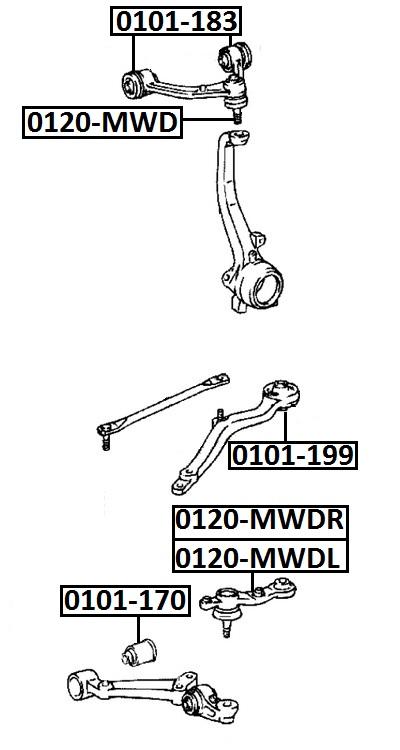 Сайлентблок AKITAKA 0101-170 (переднего рычага передний) TOYOTA