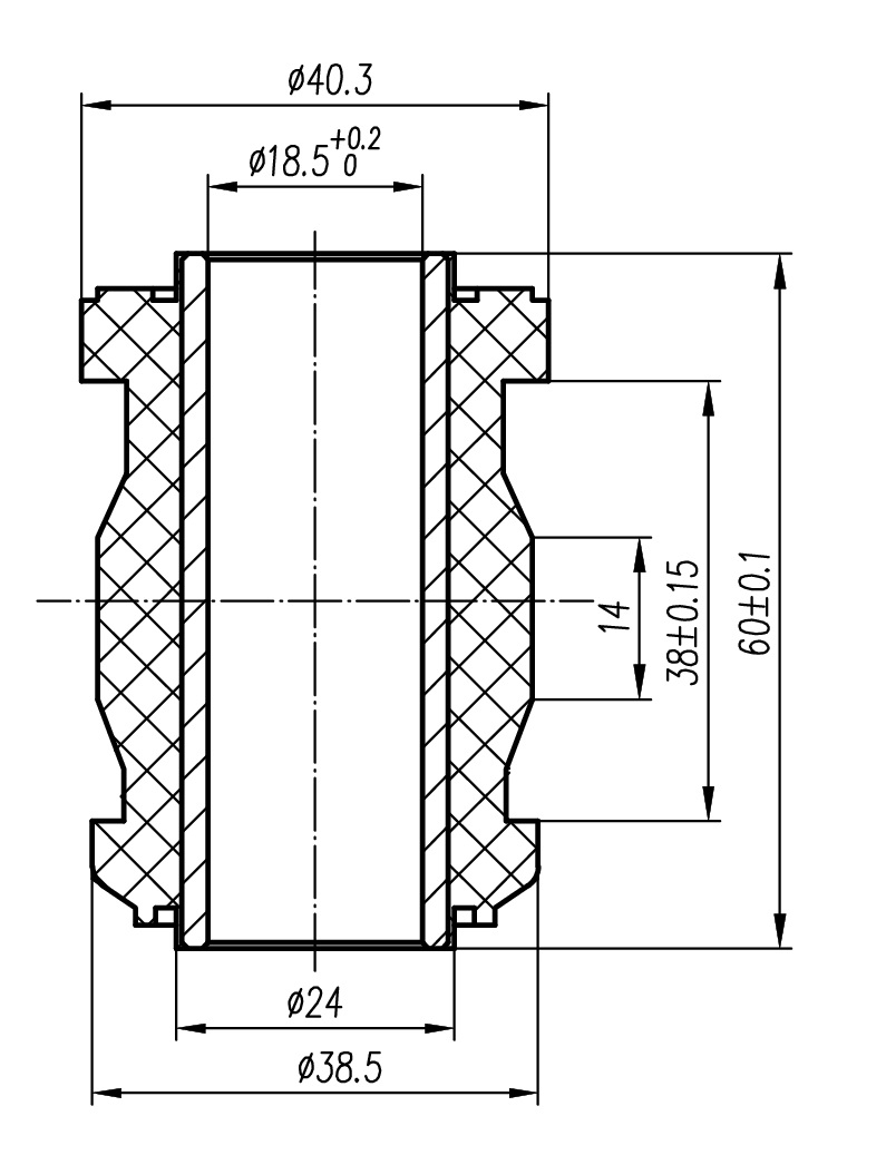Сайлентблок AKITAKA 0101-209 (переднего рычага) TOYOTA