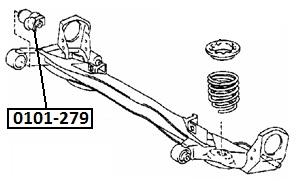 Сайлентблок AKITAKA 0101-279 (задней балки) TOYOTA