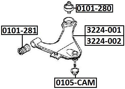 Сайлентблок AKITAKA 0101-281 (переднего рычага передний) TOYOTA
