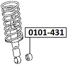 Сайлентблок AKITAKA 0101-431 (заднего амортизатора) TOYOTA