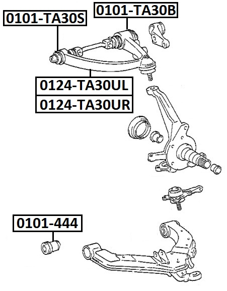 Сайлентблок AKITAKA 0101-444 (передний нижнего переднего рычага) TOYOTA