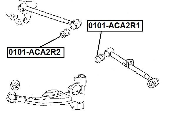 Сайлентблок AKITAKA 0101-ACA2R1 (задней верхней поперечной тяги) TOYOTA