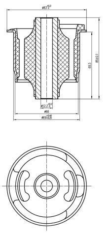 Сайлентблок AKITAKA 0101-NCP9R (задней балки) TOYOTA