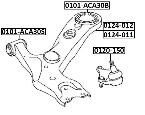 Опора шаровая AKITAKA 0120-150 TOYOTA