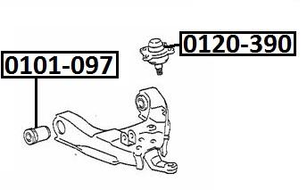 Опора шаровая AKITAKA 0120-390 TOYOTA