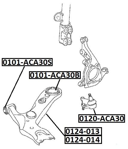 Опора шаровая AKITAKA 0120-ACA30 TOYOTA