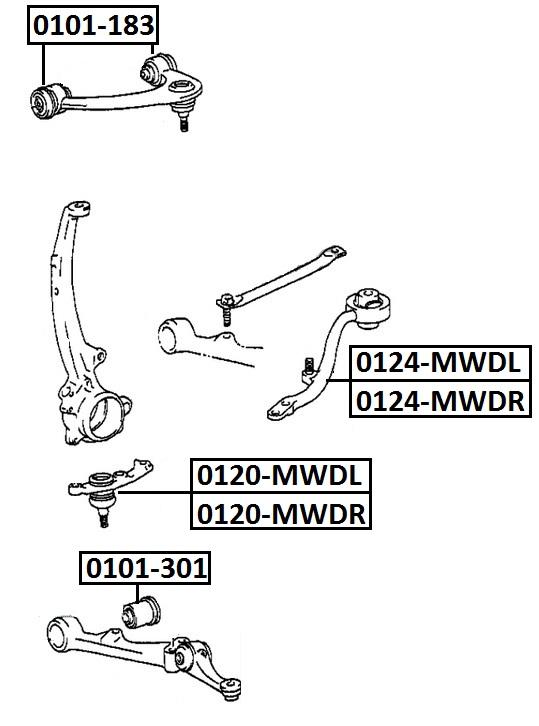 Опора шаровая AKITAKA 0120-MWDL TOYOTA