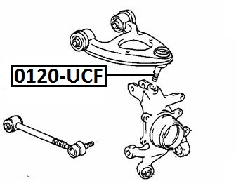 Опора шаровая AKITAKA 0120-UCF TOYOTA