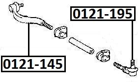 Наконечник рулевой AKITAKA 0121-195 TOYOTA