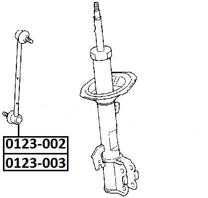 Тяга стабилизатора AKITAKA 0123-002 TOYOTA (передняя R)