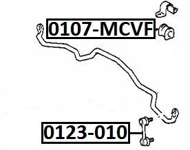 Тяга стабилизатора AKITAKA 0123-010 TOYOTA (передняя)