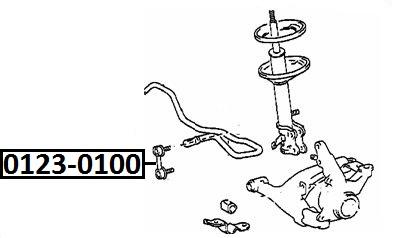 Тяга стабилизатора AKITAKA 0123-0100 TOYOTA (передняя)