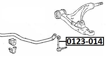 Тяга стабилизатора AKITAKA 0123-014 TOYOTA (передняя)