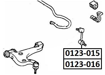 Тяга стабилизатора AKITAKA 0123-016 TOYOTA (задняя L)