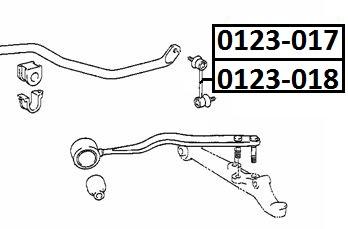 Тяга стабилизатора AKITAKA 0123-018 TOYOTA (передняя L)