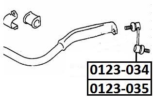 Тяга стабилизатора AKITAKA 0123-034 TOYOTA (передняя L)