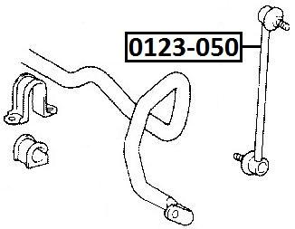Тяга стабилизатора AKITAKA 0123-050 TOYOTA (передняя)