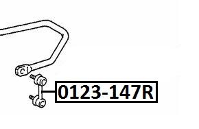 Тяга стабилизатора AKITAKA 0123-147R TOYOTA (задняя)