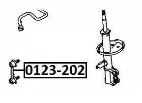 Тяга стабилизатора AKITAKA 0123-202 TOYOTA (передняя)