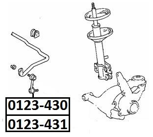 Тяга стабилизатора AKITAKA 0123-431 <R> TOYOTA (передняя R)