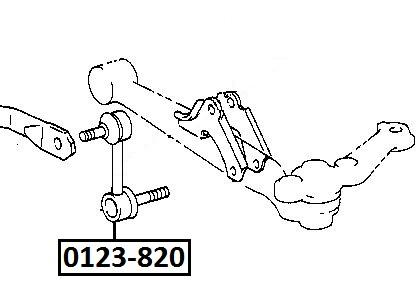 Тяга стабилизатора AKITAKA 0123-820 TOYOTA (передняя)