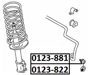 Тяга стабилизатора AKITAKA 0123-881 TOYOTA (передняя L)
