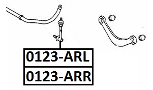 Тяга стабилизатора AKITAKA 0123-ARR TOYOTA (задняя R)