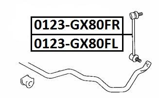 Тяга стабилизатора AKITAKA 0123-GX80FR TOYOTA (передняя R)
