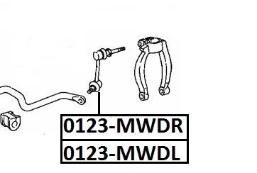 Тяга стабилизатора AKITAKA 0123-MWDR TOYOTA (передняя R)