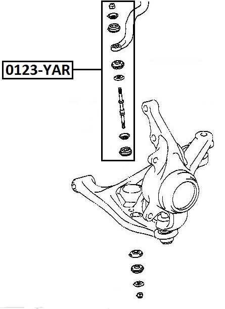 Тяга стабилизатора AKITAKA 0123-YAR TOYOTA