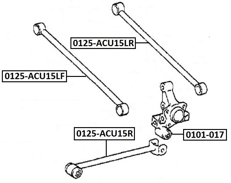 Тяга стабилизатора AKITAKA 0125-ACU15LF TOYOTA (задняя)