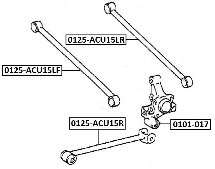 Тяга стабилизатора AKITAKA 0125-ACU15R TOYOTA (задняя)