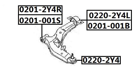 Сайлентблок AKITAKA 0201-001B (переднего рычага задний) NISSAN