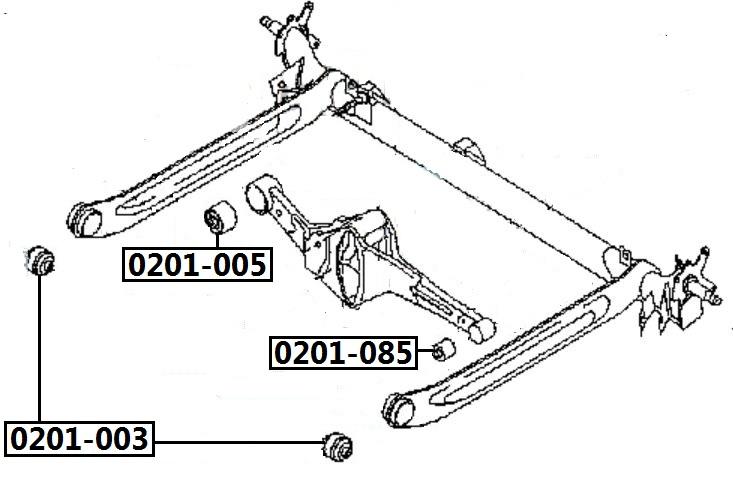 Сайлентблок AKITAKA 0201-003 (задней балки передний) NISSAN