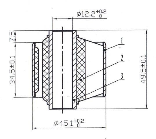 Сайлентблок AKITAKA 0201-033 (передний заднего продольного рычага) NISSAN