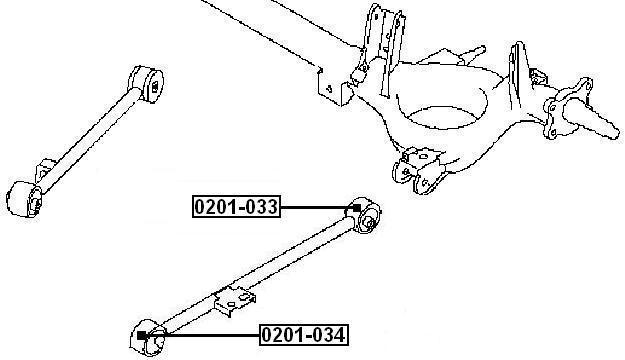 Сайлентблок AKITAKA 0201-034 (передний заднего продольного рычага) NISSAN