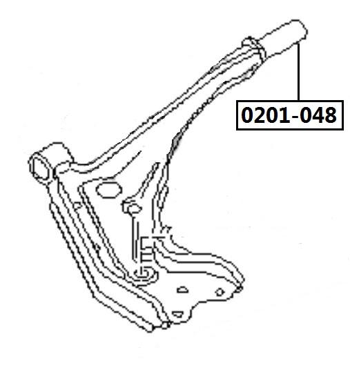 Сайлентблок AKITAKA 0201-048 (переднего рычага задний) NISSAN