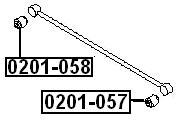 Сайлентблок AKITAKA 0201-057 (заднего поперечного рычага) NISSAN