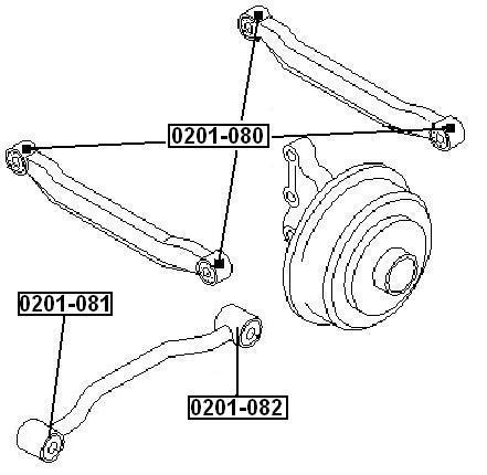 Сайлентблок AKITAKA 0201-081 (передний заднего продольного рычага) NISSAN